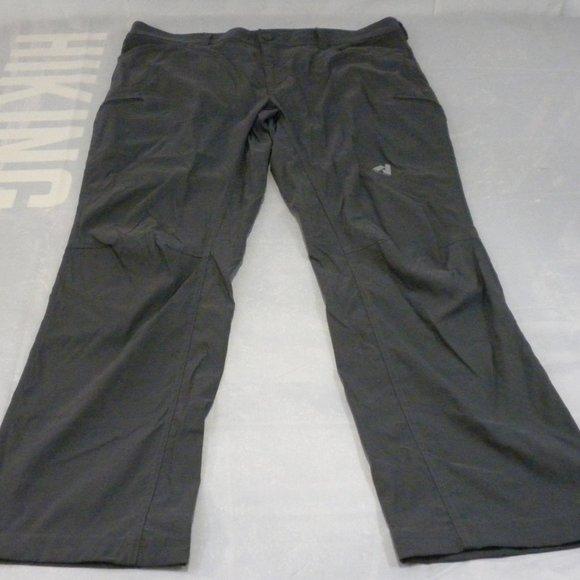 Eddie Bauer Mens Pants 40x32 Gray First Ascent Outdoor Hiking Cargo Zip Pockets
